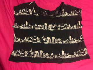 Oversized City Crop Top
