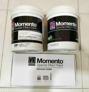 NIPPON PAINT nippon Momento - Special Effect Paint 1 Litre Set plus Primer