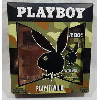 PLAYBOY PLAY IT WILD BODY FRAGRANCE FOR HIM GIFT BOX