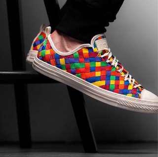 🚚 Converse  手工色彩編織低筒鞋✨