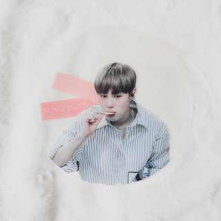 Sungwoon Fansite Transparent Circle Fan