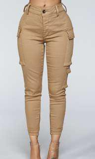 Kalley cargo pants in Tan from Fashion Nova