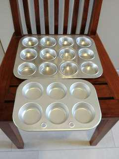 Aluminium muffin trays