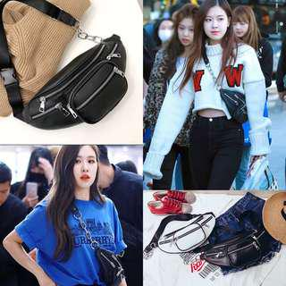 [PO]BlackPink Rose Leather Fanny Pack Bim Bag