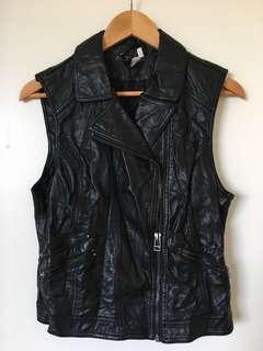 Faux Leather H&M Vest