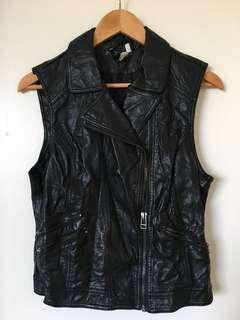 Faux Leather H&M Vest