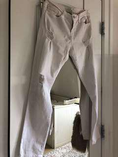 Flying monkey white ripped jeans size 25