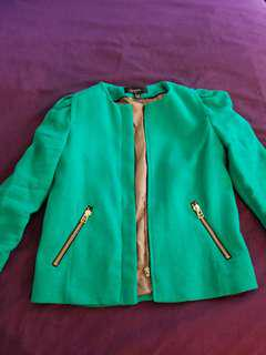 Blazer in Emerald green