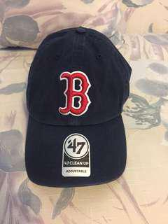 Boston baseball adjustable hat