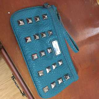Nine West turquoise clutch
