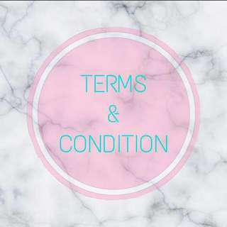 t&c // terms& condition 🌸