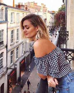 NWT Wilfred Garance off the shoulder blouse