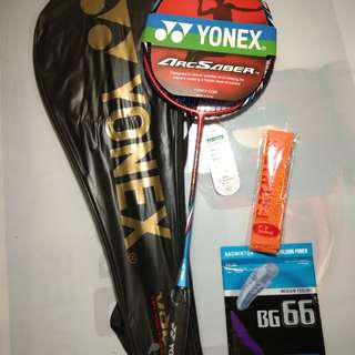 Raket Badminton Arcsaber Flash Boost Red