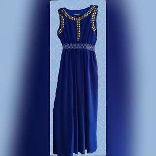 Royal blue long dress