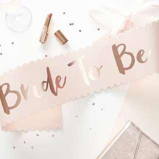 Bride-To-Be Sash for Bachelorette Party