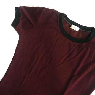 Maroon Ringer Dress from Foxy Cherry Shop