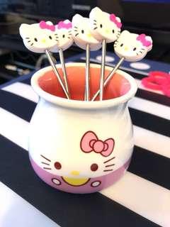 Hello kitty 芝士火鍋/朱古力火鍋用具
