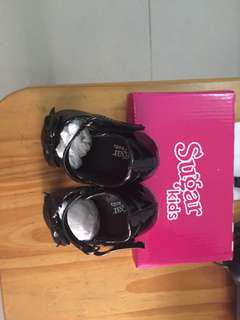 Sugar kids black shoes size 7