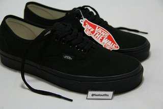 Vans Authentic Classic Black/Black atau Fullblack (Original 100%)