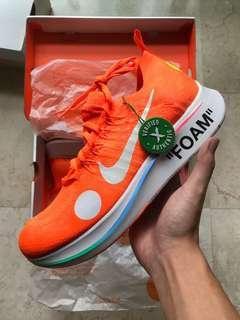 Off White Nike Zoomfly Mercurial US 10