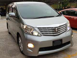 Toyota Alphard Vf for Rent Klang Shah Alam
