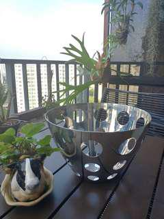 Deco designer metal bowl