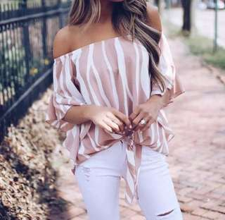 NEW off the shoulder blouse, Sz Med