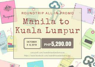 MANILA TO KUALA LUMPUR ROUNDTRIP ALL-IN (AIR FARE ONLY)