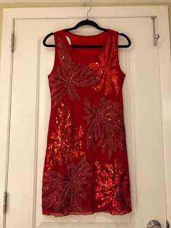 Manzhili Sequin Cocktail Dress