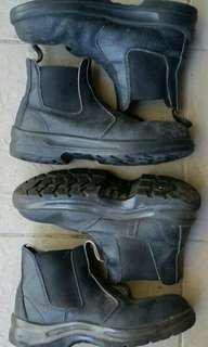 2 Pairs Work Boots Blundstones Jackeroo Steel Cap Oil Resistant Bargain!