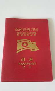 north korea tourism passport