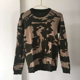 Abstract patterned sweater