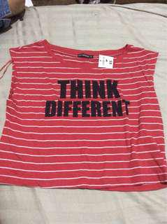 Terranova red stripes sleeveless top