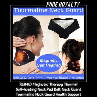 RUIMIO Self-heating Neck Guard Magnetic Therapy Thermal Tourmaline Neck Pad Health Support #single11