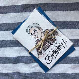 Customized watercolour card
