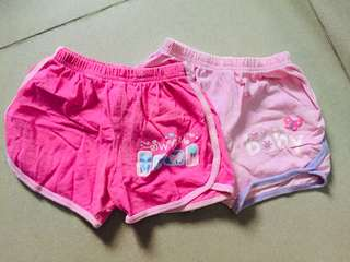 Cotton stuff shorts 2pcs. Size 0-3months