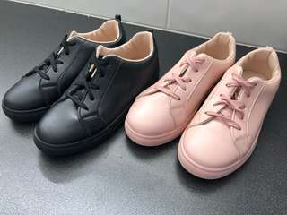 Black and pink sneaker set for sale