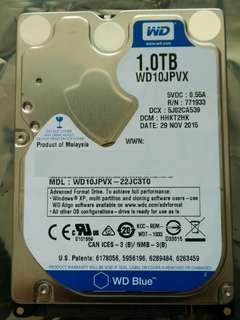 "western digital blue 1tb 1000gb 2.5"" 9.5mm 5400rpm sata 3 harddisk drive"