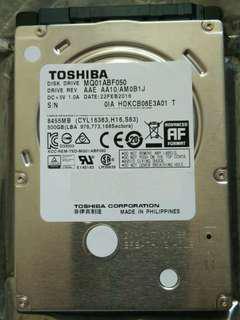 "toshiba 2.5"" 7mm 500gb 5400rpm sata 3 harddisk drive"