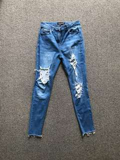 MISS PAP DISTRESSED JEANS