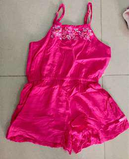 Pink short jumpsuit size Small