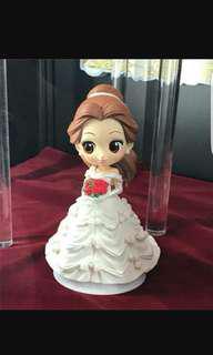 全新 有盒 斷貨 Qposket Belle wedding 貝兒公主 結婚 婚紗 banpresto行貨 正貨有鐳射貼紙 特別色 白色 colour B
