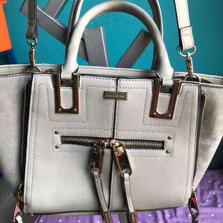 RIVER ISLAND UK grey sling bag