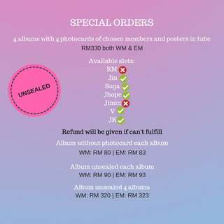 [Unsealed PO] BTS LOVE YOURSELF ANSWER UNSEALED VERSION