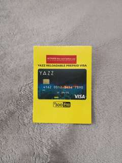 Yazz Reloadable Prepaid Visa Card with free PHP50 Load