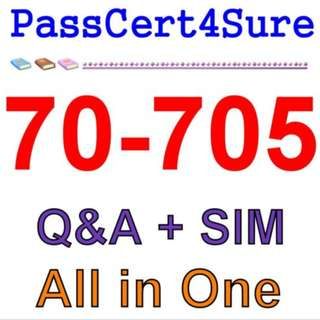 Best Exam Practice Material for 70-705 Exam Q&A PDF+SIM