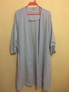 Outer Et cetera Size S warna baby blue