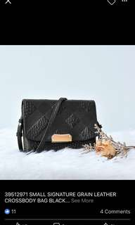 Burberry full leather sling bag