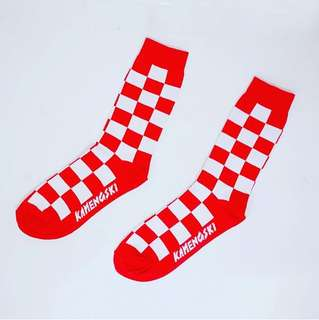 Checker Red Socks