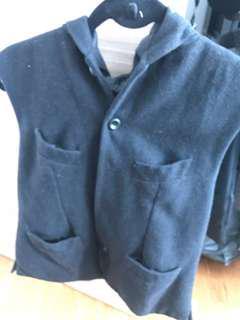 Zara black hoodie vest